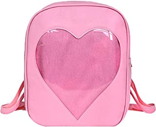 transparent heart shaped backpack