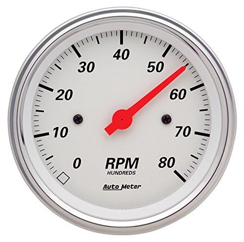 Auto Meter 1390 Arctic White Electric Tachometer