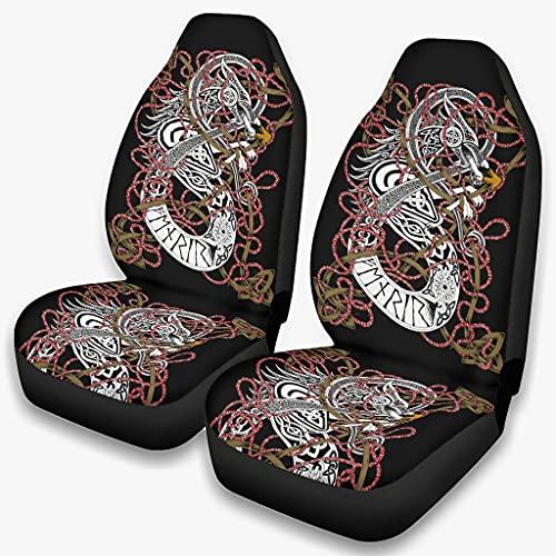 Fenrir the Wolf - Funda para asiento de coche (transpirable, lujoso), color blanco