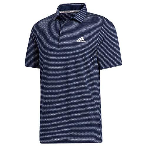adidas Golf Mens Ult365 Space Dye Polo Shirt Col NavyWhiteBlue XL