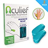 Aculief - Award Winning Natural Headache, Migraine and Tension Relief - Wearable Acupressure - Stress Alleviation - Simple, Easy & Effective 2 Pack - (Teal)