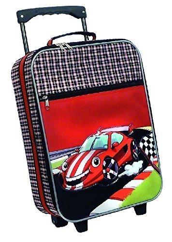 Reisetrolley Kindertrolley Koffer Cars Rennwagen schwarz / rot