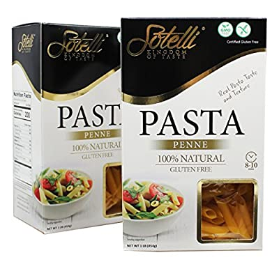 Gluten-Free Penne Corn Pasta, Kosher for Passover, GMO Free, Certified Gluten Free, 100% Natural, By Sotelli