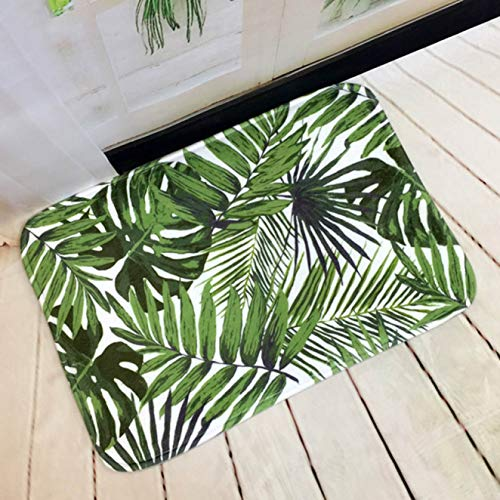 fgyujygf Handig ontwerp 40 * 60 cm Zomer Tropische Groene Planten Cactus Patroon Indoor Bad Tapijt Douche Antislip Vloertapijt Decor Mat Outdoor Deurmat Trend