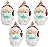 ZITOOP Anhänger Weihnachtsmann mit Maske - Weihnachtlicher Baumschmuck Weihnachtsbaum Anhänger Christbaumschmuck Zur Weihnachtsdekoration (5)