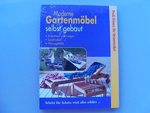 moderne Gartenmöbel selbst gebaut