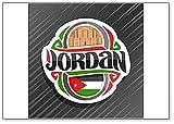 Imán para nevera, diseño de bandera de Jordania