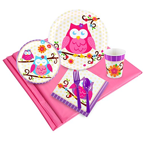 BirthdayExpress Owl Blossom Party Supplies - Party Pack 24