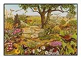 N / A James Hamilton 1000 T - Puzzle (72 x 51 cm), diseño de Heide Moor, mariposa, pájaro, conejo y flores