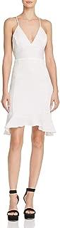 Women's Crinkled Mini With Ruffle Detail Dress