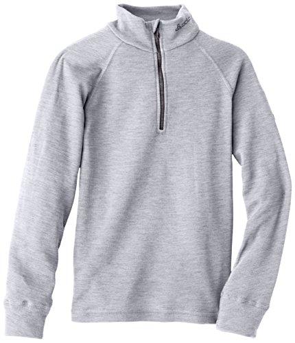 Odlo Kinder BL TOP Turtle Neck l/s Half Zip Active WARM Unterhemd, Grey Melange, 152