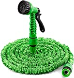 <span class='highlight'><span class='highlight'>Yiyai</span></span> 100FT Garden Water Hose Pipe Expandable Flexible No-Kink Water Hose with 7 Function Spray Gun Nozzle Flexible Water Hose Green