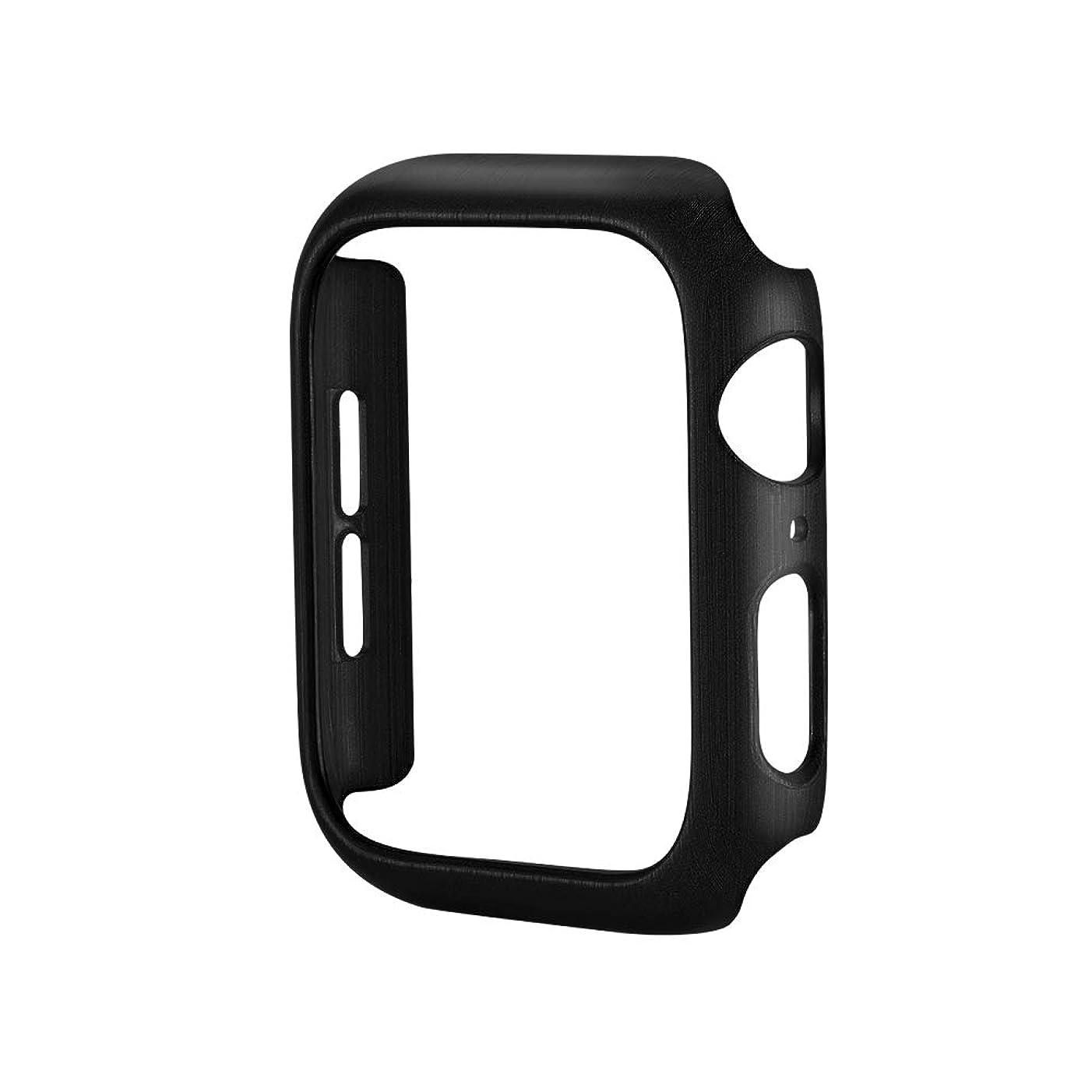 リーン失敗農夫Apple Watchケース用のPCカバー40mm、44mm、耐衝撃性および耐スクラッチケースカバープロテクターバンパーフレーム保護カバーiWatchシリーズ4用シェル (40mm, 黒)