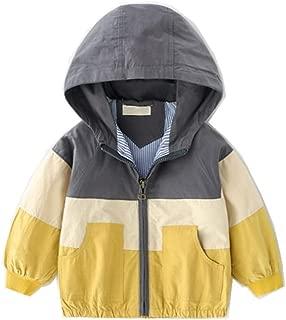 LJYH Boys Girls Hooded Rain Jacket Kids Cotton Windbreaker Outwear