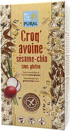 Pural Bio Knäckebrot Croq'Hafer Sesam Chia (6 x 160 gr)