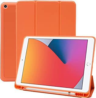 MS factory iPad 10.2 ケース 2020 第8世代 2019 第7世代 アイパッド iPad8 iPad7 カバー Apple Pencil 収納 耐衝撃 スマートカバー ソフト TPU オートスリープ ペンシルホルダー パパ...