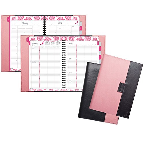 """Day-Timer Weekly / Monthly Appointment Book / Planner 2017, 5-1/2 x 8-1/2"""", Pink Ribbon (88864) Photo #4"""