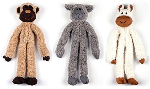ALL FOR PAWS 3er Sparset Hundespielzeug mit Seilen in Armen und Beinen - Schaf, Pferd, AFFE