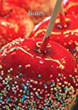 Notizbuch A4 - kariert - glasierter Apfel: süße Verführung - DIN A4 - Tagebuch - rot