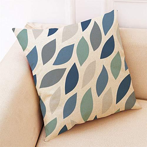 Dfttg - Funda de cojín de algodón y lino, diseño moderno y sencillo, 45 x 45 cm, Estilo-d, 4 unidades