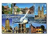 City Souvenir Shop Foto-Magnet Nürnberg an der Pegnitz, Blaue Serie