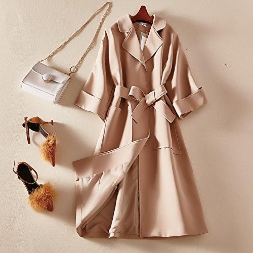 KYH Chaqueta Cortavientos Jersey Casaca Suéter De Lana Coat Coat,F,Albaricoque
