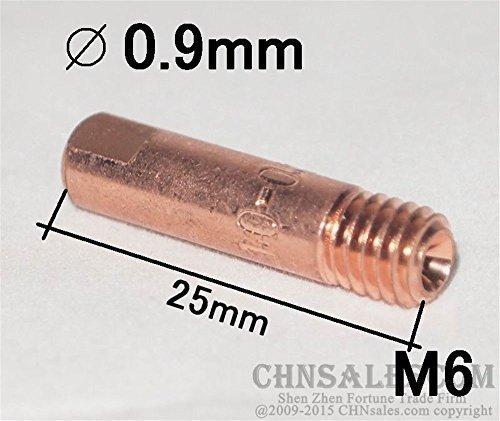 20 X MB 24KD Mig//Mag M6 Schweißen Torch Schweißer Kontakt Tips Halter Gas Düse