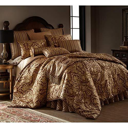 Fantastic Deal! 3 Piece Botticelli Brown King Comforter Set, Royal Ultra Luxury Lavish Glittering Gl...