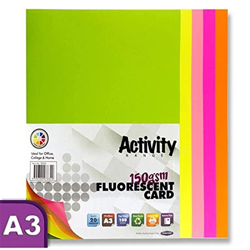 Premier Stationery A3 160 GSM Activity Card - Fluorescent (Pack of 20 Sheets)