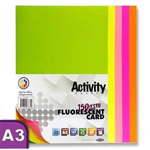 Premier Stationery A3160gsm Aktivität Karte–Fluoreszierend (20Stück Blatt)