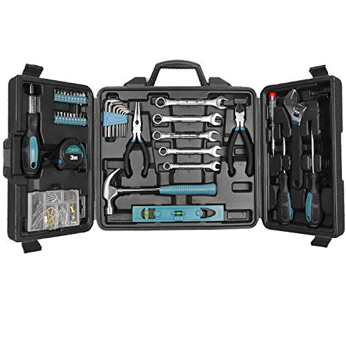 Household Hand Tool Set, WESCO 144 Pieces Home Tool Kit with Storage Case/Box WS9967U