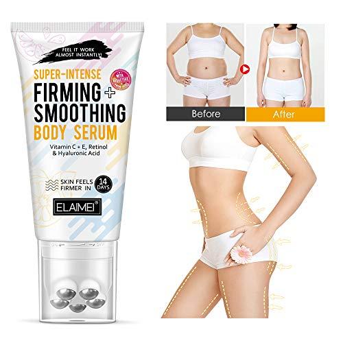 Suero corporal súper intenso y suavizante con vitamina C y E, retinol y ácido hialurónico, la piel se siente más firme en 14 días