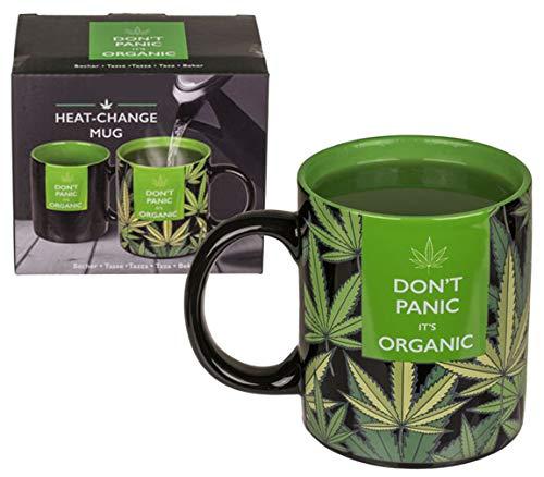 Bada Bing Tasse Cannabis Don`t Panic It`s Organic Aus Keramik Mit Wärmeeffekt Ca. 320ml Füllmenge Kaffee Becher Trend 64