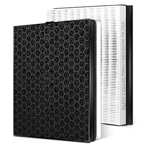 Style wei Filtro di Ricambio purificatore Filtro HEPA e Filtro con depuratore Aria Attivo Compatibile con Samsung KJ350G-K3026WP / K3000WU CFX-B100SC / 2TCD Sostituzione (Color : White Black)