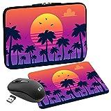 Pedea Design California Beach - Funda de Neopreno para Tablet (10,1'/25,6 cm), diseño de Playa