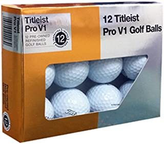 Titleist Pro V1x Mint Refinished Golf Ball, White, Package may vary