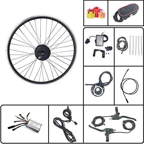 SCHUCK Electric Bike Modification kit is Suitable for 36V/48V 500W 16'/20'/24'/26'/27.5'/28'/29'/700C Rear-Rotate Motor with KT-LCD8S Display (48V 350W 29inch)