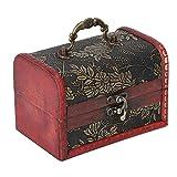 WENHANGshidai Caja de madera envejecida, pendientes de almacenamiento de joyería, joyero, accesorios de tiro, decoración del hogar, adecuado para el hogar, centros comerciales, exposiciones de joyería