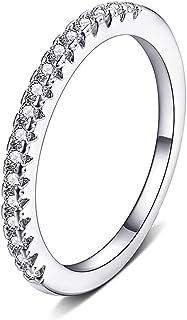 MOMOL روز الذهب / البلاتين مطلي زركون مكعب قابل للتكديس خاتم مقلد الماس خاتم الخطوبة الخلابة خواتم الخلابة للنساء