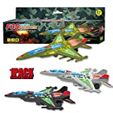 Blooming lilies Large Airplane Toys for Boys Girls 1 2 3 4 5 6 7 Years Old and up - Electric Plane Toy Model with Lights and Music for Kids, Bump and Go Airplane Toy - F35 Fighter