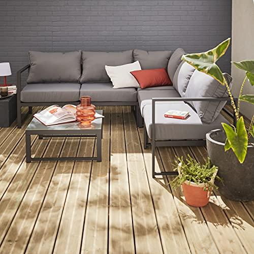 Muebles de Jardin, Aluminio, Antracita Gris, 5 plazas   Stratum