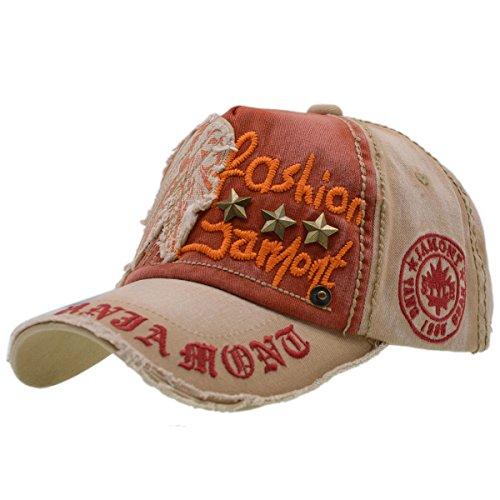 Baumwolle Baseball Cap, Basecap - iParaAiluRy Unisex Baseball Kappen, Baseball Mützen für Draussen, Sport oder auf Reisen - Letter Patch Nieten Lässig Kappe, Mütze