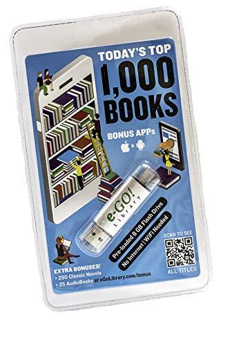 e-GO! Library Today's Top 1000 Books with 250 Bonus Classics, Green