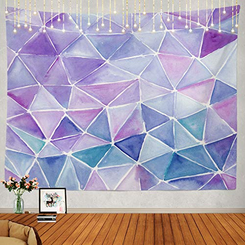 Shrahala Abstract Tapestry, Strokes Watercolor Blue Green White Striped Abstract Colorful Wall Hanging Large Tapestry Psychedelic Tapestry Decorations Bedroom Living Room(51.2 x 59.1 Inches, Violet)