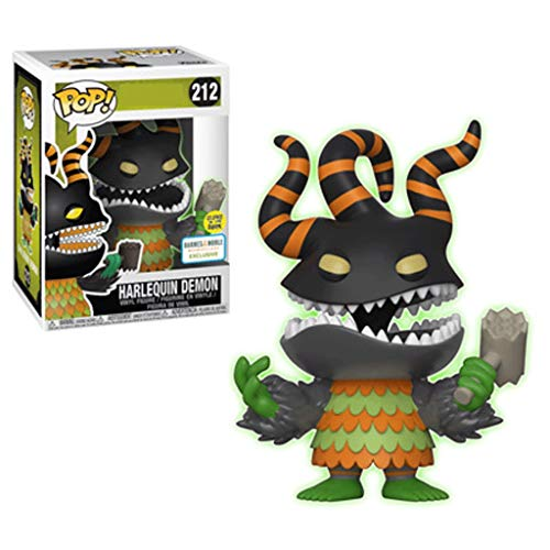 Funko Pop Movies : The Nightmare Before Christmas : Harlequin Demon (Glow at Night) 3.75inch Vinyl Gift for Anime Fans SuperCollection