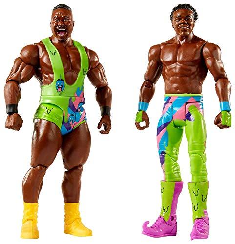 Mattel FMF80 WWE Big E und Xavier Woods 15 cm Basis Figuren 2er-Pack, Spielzeug Actionfiguren ab 6 Jahren