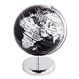 Exerz Metallisch Globus (Durchmesser: 14 cm) - Pädagogisch/Geografisch/Dekoration - Mit einem...