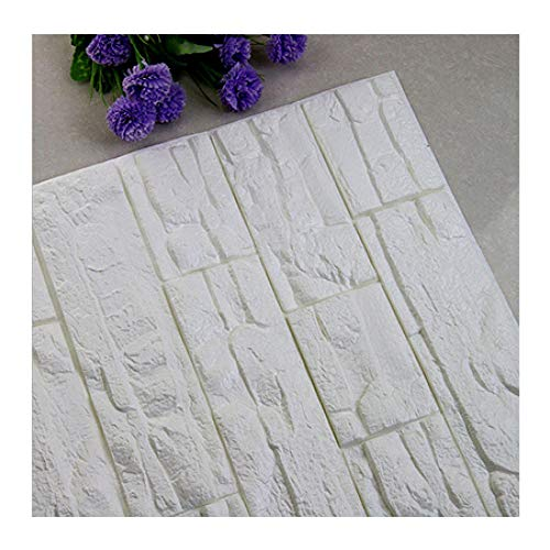 Behang Waterdicht en geluiddicht Decoratief Schuim 70 * 77 cm reliëf Drie D DIY lijmen voor Slaapkamer Woonkamer Huis PE Steen lambrisering - 60 * 30cm_15PCS