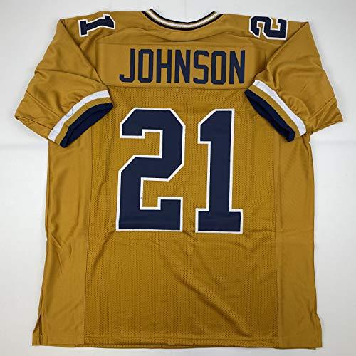 Unsigned Calvin Johnson Georgia Tech Gold Custom Stitched College Football Jersey Size Men's XL New No Brands/Logos