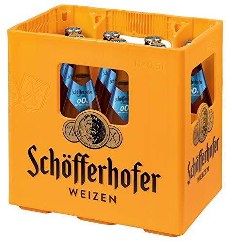 Schöfferhofer Hefeweizen 0,0% Alkoholfrei MEHRWEG, (11 x 0,50 l)